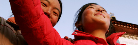 Photo by Tina Su. 'Girls in Lhasa - 2006?