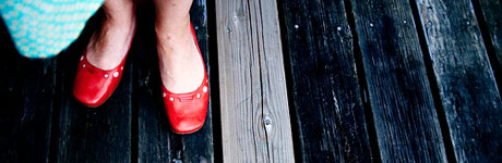 Kara Pecknold Focus Shoes Red