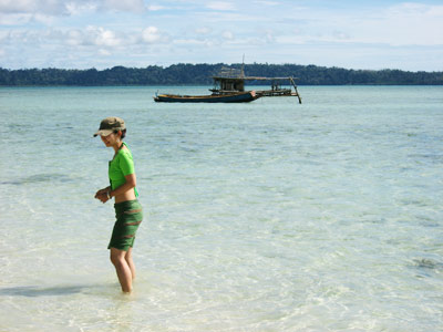 Tina Su on a beach Havelock Island Andaman India
